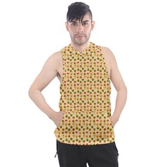 Autumn Leaves Tile Men s Sleeveless Hoodie