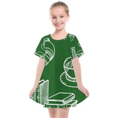 Books And Baked Goods Pattern Kids  Smock Dress