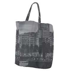 Sunset Coastal Urban Scene, Montevideo, Uruguay Giant Grocery Tote by dflcprintsclothing