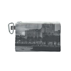 Sunset Coastal Urban Scene, Montevideo, Uruguay Canvas Cosmetic Bag (small) by dflcprintsclothing