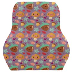 Nuts And Mushroom Pattern Car Seat Back Cushion  by designsbymallika