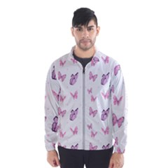 Pink Purple Butterfly Men s Windbreaker