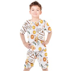 Honey Bee Pattern Kids  Tee And Shorts Set