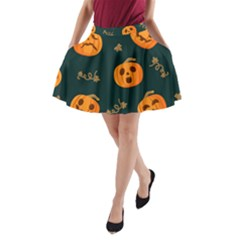 Halloween A-line Pocket Skirt by Sobalvarro