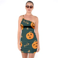 Halloween One Soulder Bodycon Dress by Sobalvarro