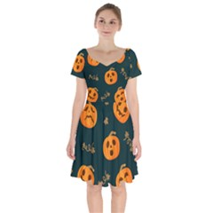 Halloween Short Sleeve Bardot Dress
