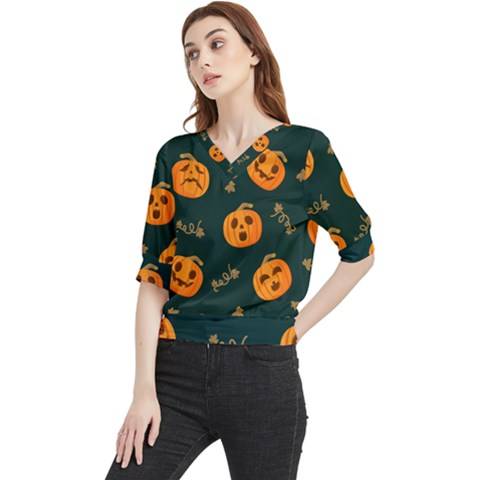 Halloween Quarter Sleeve Blouse by Sobalvarro
