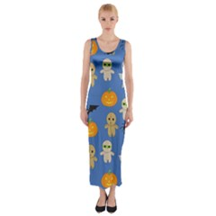 Halloween Fitted Maxi Dress by Sobalvarro