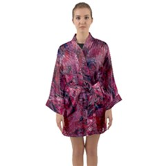 Dragons Flames Long Sleeve Satin Kimono