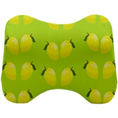 Yellow Lemon Fruit Pattern Head Support Cushion by Lotus