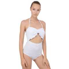 Pirate Flag-jolly Rojer Scallop Top Cut Out Swimsuit