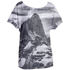 Fitz Roy And Poincenot Mountains, Patagonia Argentina Women s Oversized Tee by dflcprintsclothing