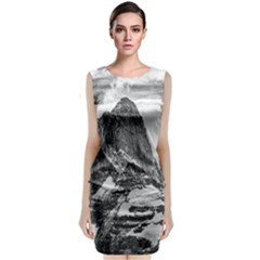 Fitz Roy And Poincenot Mountains, Patagonia Argentina Sleeveless Velvet Midi Dress by dflcprintsclothing