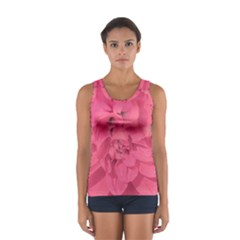 Beauty Pink Rose Detail Photo Sport Tank Top