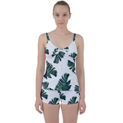 Green Banana Leaves Tie Front Two Piece Tankini by goljakoff