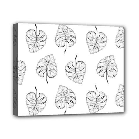 Doodle Leaves Canvas 10  X 8  (stretched) by goljakoff