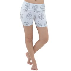 Doodle Leaves Lightweight Velour Yoga Shorts by goljakoff