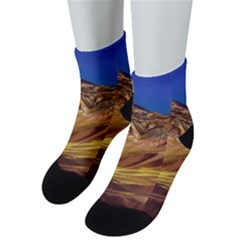 Colored Mountains Landscape, La Rioja, Argentina Men s Low Cut Socks