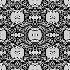 Black-gray, Ornamental Abstract Pattern by FloraaplusDesign