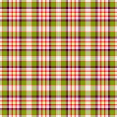 Tartan, Green-red-purple Plaid, Decorative Pattern by FloraaplusDesign