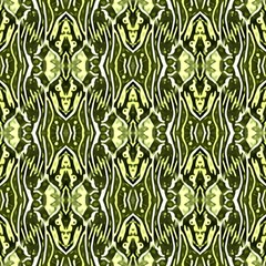 Green Ethnic Ornament by FloraaplusDesign