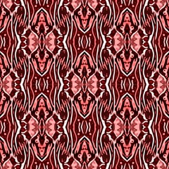 Red Ethnic Ornament by FloraaplusDesign