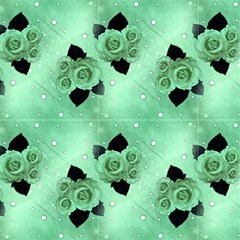 Mint Vintage Roses And Polka Dot by FloraaplusDesign