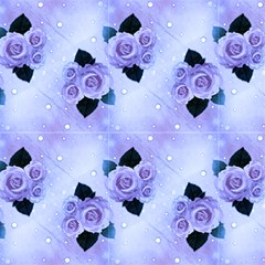 Lavander Vintage Roses And Polka Dot by FloraaplusDesign