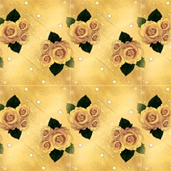 Yellow Vintage Roses And Polka Do by FloraaplusDesign