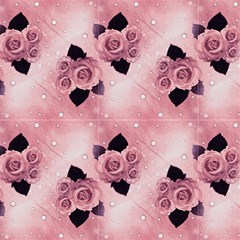 Pink Vintage Roses And Polka Dot by FloraaplusDesign