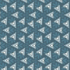 Blue Abstract Decorative Pattern  by FloraaplusDesign