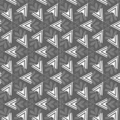Grey Abstract Decorative Pattern by FloraaplusDesign