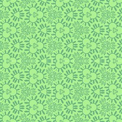 Light Green, Abstract, Decorative Pattern  by FloraaplusDesign