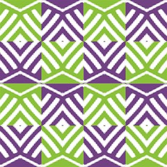 Purple Green Aztec, Traditional Tribal Ornament by FloraaplusDesign