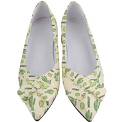 Cactus Pattern Women s Bow Heels by goljakoff