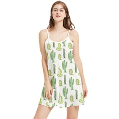 Cactus Pattern Summer Frill Dress by goljakoff