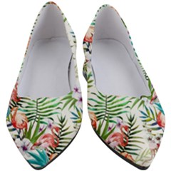 Tropical Flamingos Women s Block Heels  by goljakoff
