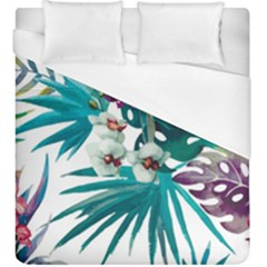 Tropical Flowers Duvet Cover (king Size) by goljakoff