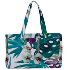 Tropical Flowers Canvas Work Bag by goljakoff