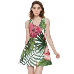 Monstera Flowers Inside Out Reversible Sleeveless Dress