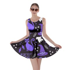 Halloween Party Seamless Repeat Pattern  Skater Dress by KentuckyClothing
