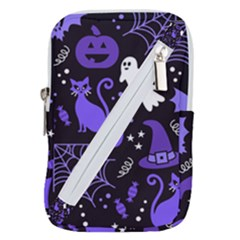 Halloween Party Seamless Repeat Pattern  Belt Pouch Bag (small) by KentuckyClothing