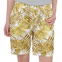 Golden Leaves Pocket Shorts by goljakoff