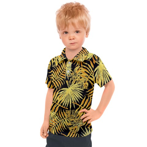 Gold Leaves Kids  Polo Tee by goljakoff