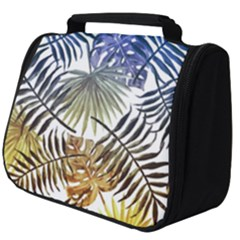 Blue And Yellow Tropical Leaves Full Print Travel Pouch (big) by goljakoff