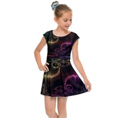 Patina Swirl Kids  Cap Sleeve Dress