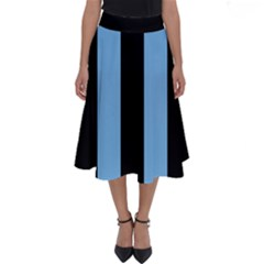 Aero Blue & Black Perfect Length Midi Skirt