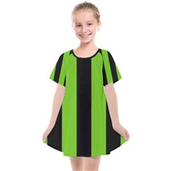 Alien Green & Black Kids  Smock Dress by FEMCreations