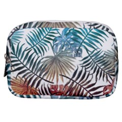 Blue Tropical Leaves Make Up Pouch (small) by goljakoff