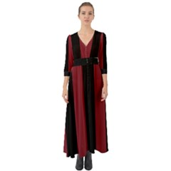 Antique Ruby & Black Button Up Boho Maxi Dress